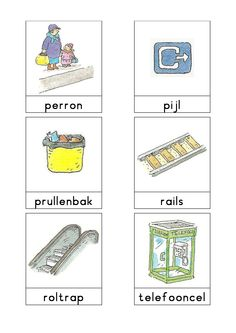 Woordkaarten Bas 'Het station' 2 Learn Dutch, Spanish Names, Dutch Language, Trains, Exercise For Kids, Everyday Items, Learning Spanish, Primary School, Transportation