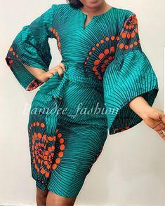 Latest Beautiful Ankara Dress – MY World African Fashion Ankara, African Inspired Fashion, African Print Dresses, African Print Fashion, Africa Fashion, African Dress, Fashion Prints, African Attire, African Wear