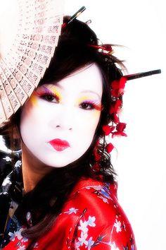 Geisha Make-up Work by ARecinto Photography, via Flickr