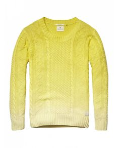 I really want this.  Cable knitted crew neck pull - Pullovers - Official Scotch & Soda Online Fashion & Apparel Shops
