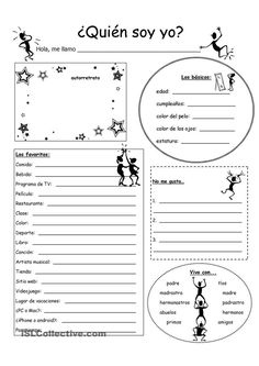 (Who am I?) - English ESL Worksheets for distance learning and physical classrooms High School Spanish, Elementary Spanish, Spanish 1, Spanish Teacher, Spanish Classroom Activities, Spanish Teaching Resources, Spanish Language Learning, Listening Activities, Spanish Worksheets