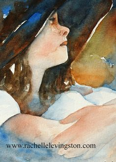 portrait+painting+watercolor+Painting+Girl+by+rachellelevingston,+$12.00