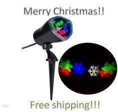 Gemmy Lightshow Projection Snowflurry Outdoor Led Laser Snowflake Christmas Rwgb #GemmyLightshow