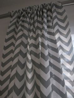 Black And White Chevron Curtains Against Grey Wall U003c3 | For The Apartment!  | Pinterest | Chevron Curtains