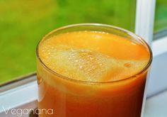 Suco de Cenoura com Maçãs - Veganana