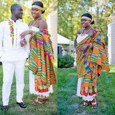 African tradition at its best! A lovely Kente adornment by Abena and an elaborately made African wear on Koby.  MUA: @glodiva_mua  #married #bride #idoghana #fotosbygene #2015wedding #dmv #dmvphotographer #marylandphotographer #beautiful #African #ProudlyAfrican #engaged #engagement #engagedlife