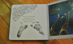 Have whomever visits when baby is born write a sweet note in the book.