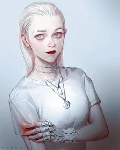 Fighter by Toraji . Art Anime, Anime Art Girl, Manga Art, Manga Anime, Female Character Design, Character Art, Arte Grunge, Digital Art Girl, Character Portraits