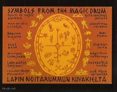 Sami Magic Drum symbols