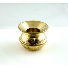 Dolls House Miniature Pub Accessory Brass Spittoon