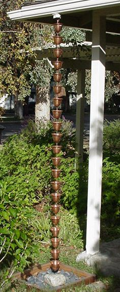 Rain Chain Waterfall : ... + images about Downspouts on Pinterest  Rain chains, Copper and Rain