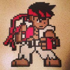 Ryu Street Fighter perler beads