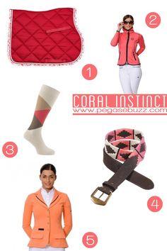 www.pegasebuzz.com | Equestrian Fashion : coral