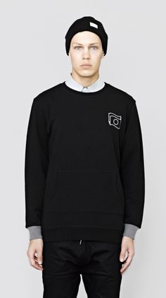 Edo Crew Neck Jersey Black I Love Ugly, Classic Man, Men Looks, Sweater Fashion, Streetwear, Crew Neck, Menswear, Sweatshirts, Sweaters