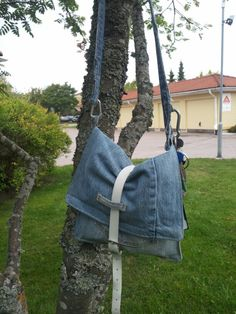 Recycled denim into a bag