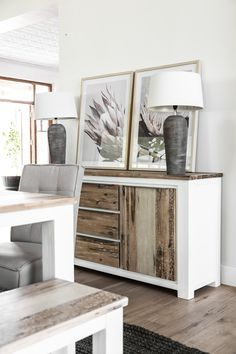 The Mokka Sideboard is made with sturdy Acacia wood and has clean, simple lines. Acacia Wood, Simple Lines, Apartment Ideas, Sideboard, Interior Styling, Beach House, Cabinet, Tv, Storage