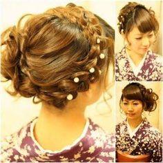 「卒業式の袴にあうヘアアレンジ特集」の画像検索結果