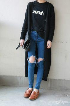 Stylish High-Waisted Hole Design Bodycon Women's Jeans