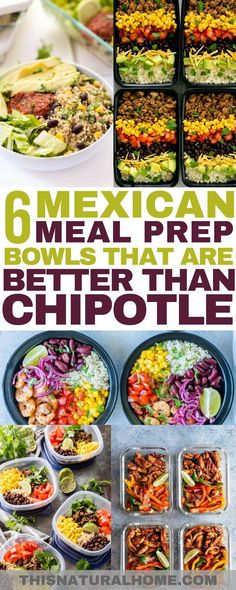 Move over Chipotle! These Mexican meal prep bowls are going to blow your mind! If you love Mexican food as much as I do, you're going to want to make these.