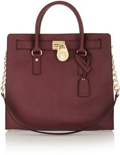 MICHAEL Michael Kors Hamilton large textured-leather tote on shopstyle.com $360 I wonder if Macy's carry this color.