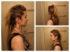 Hair Inspired by The Vikings, Lagertha. I aim to make this work in everyday life. Yep.