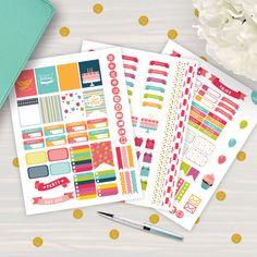 #HappyBirthday #Planner #Stickers #Printable #Birthday #Sticker #ErinCondren #Filofax by AlakazooDesigns on Etsy