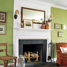 Make it new with a coat of fresh leaf-green paint. Architect and interior designer, Carol J.W. Kurth. Photo: Tria Giovan.