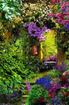 These Secret Garden design ideas can inspire you to make one for yourself. Get the best secret garden landscaping ideas for your backyard French Cottage Garden, Cozy Cottage, Romantic Cottage, Cottage Ideas, Cottage Style, The Secret Garden, Secret Gardens, Hidden Garden, Beautiful Flowers