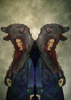 A wolf in wolf's clothing by Elena-Greta Apostol, via Behance