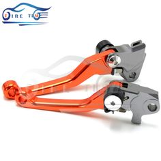 (29.24$)  Watch now - http://aie6u.worlditems.win/all/product.php?id=32576475413 - Motocross Dirt Bike Billet Pivot Folding Brake Clutch Levers orange color For KTM EXC EXC-R XC XC-W XC-F SX 300 505 400 450 530