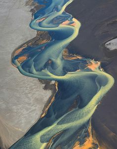 Iceland's Volcanic Rivers  Aerial Photographs by Andre Ermolaev