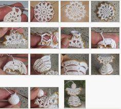 tutorial angelo | Hobby lavori femminili - ricamo - uncinetto - maglia