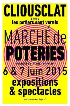 Marché de poteries et poteries anciennes à Clioustat, dans la Drôme les 6 et 7 juin 2015