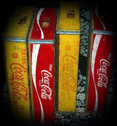 Vintage Wooden Coca Cola Crates by CarmineBoutique on Etsy