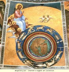 Giusto de' Menabuoi. The Creation of the World. Dome fresco. Olga's Gallery.