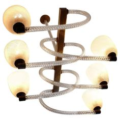 Reticello light fixture, by Carlo Scarpa for Venini, 1940, offered by Antiques MC