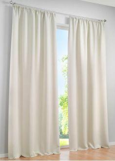 """Jetzt anschauen:Unifarbener Verdunkelungs Vorhang, Vorhang """"Uni Verdunkelung"""", (1er Pack)) und Beschreibung (Unifarbener Verdunkelungs Vorhang, extrem blickdichte Qualität, kann auch wärmeisolierend und schallschluckend wirken, gefärbt, daher von beiden Seiten gleich, auch in der Breite 270 cm, mit Kräuselband oder Ösenaufhängung in 8 Größen und 6 Farben, waschbar und pflegeleicht, Maße=Stoffmaße). 100%Polyester."""