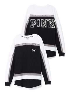 Varsity Crew in B;k/White. Orig. $79.95 Clearance $58.99 - PINK - Victoria's Secret