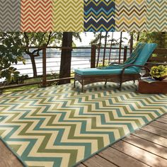 Indoor/ Outdoor Chevron Polypropylene Rug (6'7 x 9'6) | Overstock.com Shopping - Great Deals on Style Haven 5x8 - 6x9 Rugs