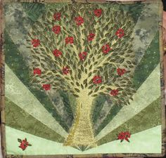 Tree quilt by Marie at http://creativeconglomeration.blogspot.com/search/label/Creative%20Conglomeration