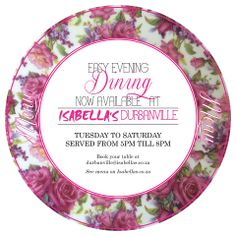 Durbanville #Isabella's #EasyDining #DinnerIsServed My Honey, Dinner Is Served, Special Occasion, Decorative Plates, Sweets, Sugar, Dining, Easy, Food