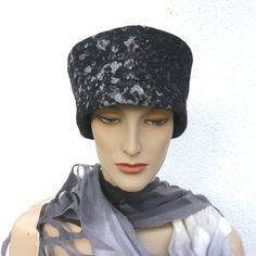 Felted Hat Wool Silk Cap Women Nuno felted Hat Black elegant women's hat by MajorLaura on Etsy