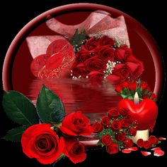 Beautiful Flower Drawings, Beautiful Red Roses, Beautiful Gifts, I Love You Images, Love You Gif, Romantic Pictures, Pretty Pictures, Coeur Gif, Kristen Stewart Pictures