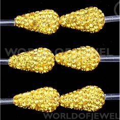 Goccia Di Ceramica Con Strass 1 Filo £30.25 #stone #accessory #jewel #worldofjewel #bijoux #fashion #accessories #jewelry #beads #strass #briolet #perline