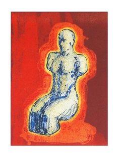 Nico Wiederberg (1960)/Aura. Litografi Printmaking, Art Drawings, Artsy, Red, Painting, Painting Art, Printing, Paintings, Painted Canvas