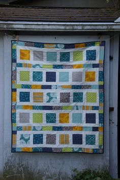 So cute! Fresh, bright boy quilt. $150.00, via Etsy.