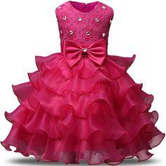 4ff49a8d7 Niñas sin mangas vestido de princesa boda niña de las flores fiesta de  Pascua