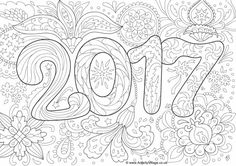 Doodle Adult New Year 2017 Coloring Pages Printable And Book To Print For Free Find More Online Kids Adults Of