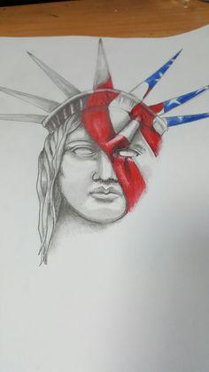 Tattoo Idea of Lady Liberty My Drawings, Liberty, Tattoos, Lady, Political Freedom, Tatuajes, Freedom, Japanese Tattoos, Tattoo