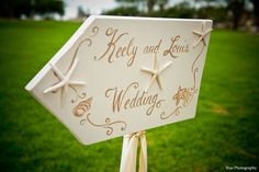 Starfish wedding sign